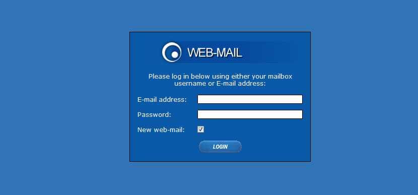 Control Panel WebMail
